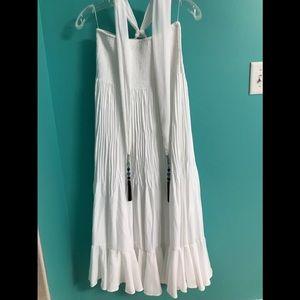 WHBM white bandeau dress